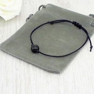 Handmade Adjustable Semi Precious Gemstone Bracelet & Velvet Pouch. Various