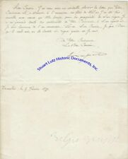 King Leopold II of Belgium / Congo signed letter re sending Xmas wishes 1879