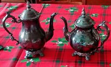 Vintage F B Rogers Silver Co Silver Plated Coffee Pot & Tea Pot Urns set