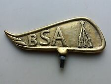 BSA LONG WING Bicycle Motorcycle Front Mudguard Emblem Badge Brass Free Shipping