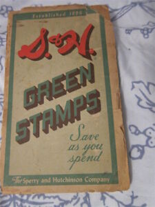Estate mid 20C Book: S+H GREEN STAMPS mostly filled - Iffy condition Fun relic!!