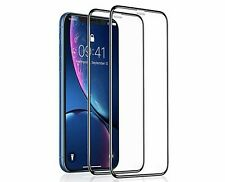 For Apple iPhone  XS MaxFull Coverage Tempered Glass Screen Protector-2Pack
