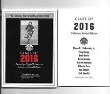 2016 GOAL LINE ART CARD SET Tony Dungy, Brett Favre, Kevin Green, Ken Stabler