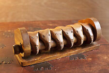 Set of 6 Hand carved wood Elephant Napkin Holder Rings from Philippines