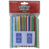 """Artstraws Pack Of 100 Assorted Colours 6"""""""