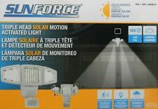 Sunforce Solar Triple Head Motion Activated Security Light 1500 Lumens NEW O/B