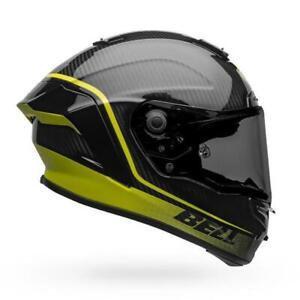 Bell Race Star Flex DLX Full Face Motorcycle Helmet - Velocity Black/Viz - Large