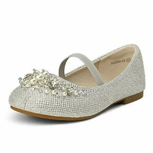 DREAM PAIRS Girls Kid Ballerina Flat Shoes Party Dress Shoes Flats Rhinestones