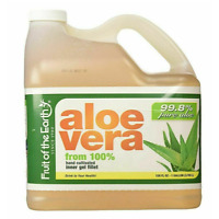 99.8% Aloe Vera Juice Fruit Of The Earth Pure  Drink Organic Wild 1 Gallon 128oz