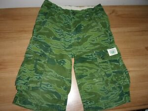 GAP - Boy's Green Camouflage Style Shorts- Age 7 Years -Adjustable Waist -Cotton