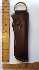 KNIFE SHEATH COVER with BELT Loop - GENUINE  HIDE LEATHER- Handmade