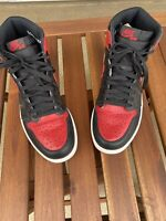 Nike Air Jordan 1 Bred Black Red Banned 2016 Size 9.5