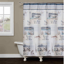 Saturday Knight Bass Lake Stylish Easily Fit Durable Shower Curtain 70 x 72