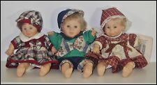 Set of 3 PALM DOLLS Gigo Happy Kids 2 girls 1 boy smiling 8.5 in pre owned