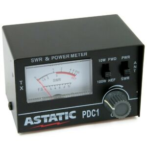 Astatic PDC1 SWR/RF CB Radio Test Meter 10W and 100W Switches Heavy Duty