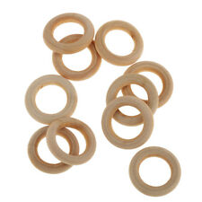5Pair Safety Wooden Baby Rabbit Teething Ring Teether Bunny Sensory Toy 25mm