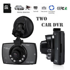 "2Pack Full HD 1080P 2.4"" Car DVR CCTV Dash Camera G-sensor Night Vision Recorder"