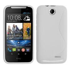 Accessoire Housse Etui Coque TPU Silicone Motif S-Line BLANC HTC Desire 310