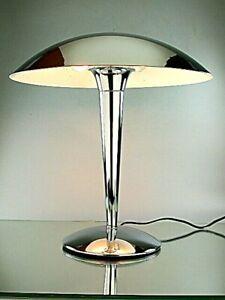 BAUHAUS DESIGN ART DECO STIL CHROM TISCHLAMPE LAMPE LEUCHTE VINTAGE REEDITION