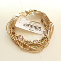 "7"" New Banana Republic Multi-Strands Bracelet Gift Fashion Women Party Jewelry"