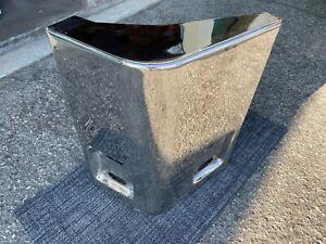 Eagle Model 5/10/15/20 polished stainless steel front bumper corner - LH - NOS