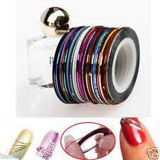 10/20/30 Rolls Striping Tape Line Acrylic Gel Nail Art Tips Decoration Sticker