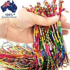 4 x FRIENDSHIP BRACELETS ~ ANKLETS Handmade Cotton Woven Thread Cord Boho Hippie