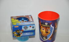 Paw Patrol Mini Snack Container 4 pack with lids & 16oz Party Plastic Cup New