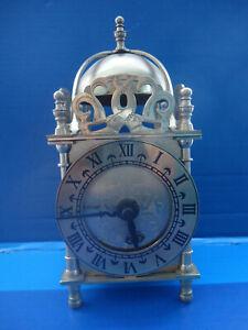 Vintage Smiths Brass Lantern Quartz Clock.
