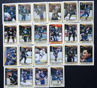 1990-91 O-Pee-Chee Buffalo Sabres Team Set of 22 Hockey Cards