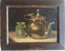 Superbe et ancienne peinture sur bois.FIN 19eme.Style flamand.