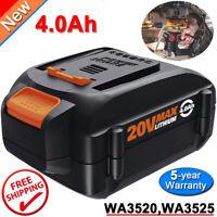 Replacement Worx WA3578 20V Max Li-Ion Battery 4.0Ah WA3520 WA3575 WA3525 WG163.
