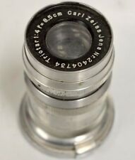Carl Zeiss Jena Lens Nr.2404734 Triotar 1:4 f=8.5cm - For parts - Used
