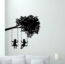 Kids Tree Wall Decal Boy Girl Vinyl Sticker Nursery Art Poster Baby Decor 73bar