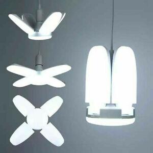 E27 8000LM Deformable LED Garage Light Ceiling Fixture Lights Shop Workshop Lamp