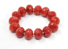 Beautiful Bracelet Coral Faceted Wheel Form