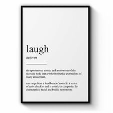 """Dictionary Definition """"Laugh"""" Bedroom Wall Art"""