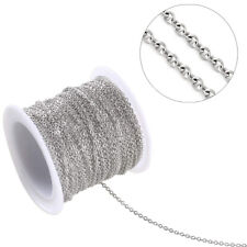 50m/Roll 316 Stainless Steel Cross Chains Soldered Round Link 24-Gauge Cable 2mm