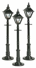 MTH 30-1079, O Scale, Decorative Square Street Light, Set of 3 Lamps