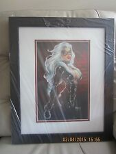 BLACK CAT  by GAVIN MICHELLI 19 X 23 FRAMED PRINT MINT CONDITION NEW
