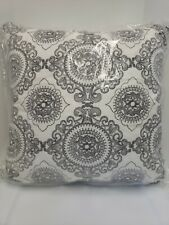"Hallmart Collectibles Embroidered 20 x 20"" Square Decorative Pillow, Gray"
