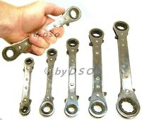 5pc Reversible Ratchet Ring Spanner Set Gear Wrench Spanners Kit Metric 6mm-21mm
