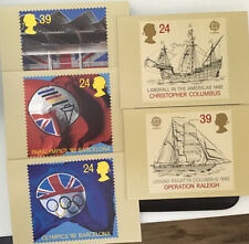 GB QEII 1992 Olympics And Operation Raleigh PHQ143a-e Mint