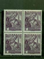 Österreich, Pinzgauerin Nr. 583 postfrisch ** Viererblock