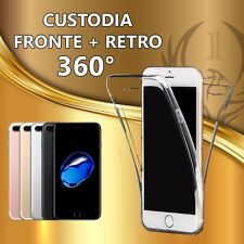 COVER CUSTODIA CASE MP 360°TPU GOMMA MORBIDA Fronte + Retro per vari smartphone