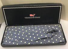 Vineyard Vines Men Navy Blue White Snowflakes Silk Bow Tie Cummerbund Set $110