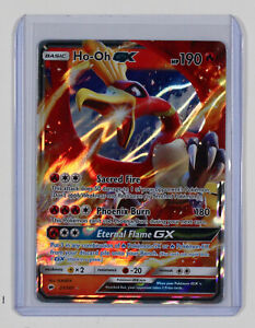 Pokemon Burning Shadows Ho-Oh GX Ultra Rare Holographic 21/147 MINT