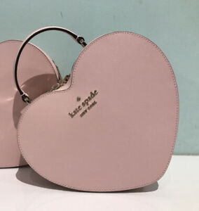 Kate Spade Heart ❤️ Crossbody Love Shack 3D Pink Leather Valentines Day Bag NWT