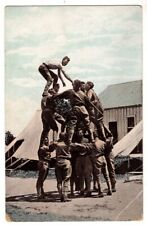 110220 SOLDIERS MAKE LIVING PYRAMID CAMP LAKEVIEW LAKE CITY MN VINTAGE POSTCARD