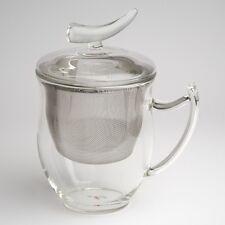 Verre tasse à thé à thé avec Tamis et Couvercle Epsilon soucoupe de